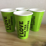 El color verde de vasos de papel desechables China Wholesale