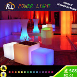 Light Up Bar Furniture Chaise en plastique Glowing LED Cube