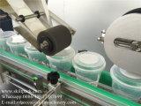 Máquina de etiquetas do copo plástico da fábrica de Skilt auto para lados e a superfície superior