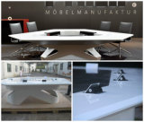 고압선 소켓을%s 가진 상업적인 L 모양 호텔 반원 탁상용 회의 회의 테이블