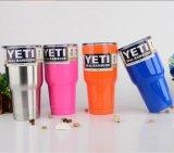 Двойной гравировальный станок лазера изготовления стены для крышки микрофона чашек Tumbler 20oz Rambler Yeti голубой регулирует склянки вакуума автомобиля бутылок воды