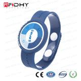 Bracelete ajustável gravado do PVC de MIFARE RFID