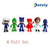 PJは文字Catboy Owlette Gekkoのマントのアクション・フィギュアおもちゃの人形を覆う