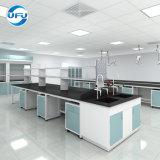 Eiland het van uitstekende kwaliteit Worktable van het Frame van het Laboratorium H met het Kabinet van Wielen