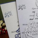 Laser de lujo que graba la impresión de encargo de las tarjetas de felicitación de la tarjeta de papel