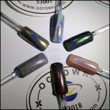 Лазерный голографических сахар Rainbow хромированные зеркала заднего вида ногтей пигмента порошок