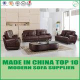 Loveseatの本物の家具が付いている革ソファーベッドの現代ソファー