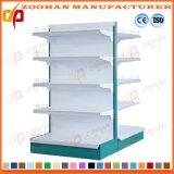 Sola estantería de pared de acero lateral de la visualización del supermercado de la fábrica con el rectángulo ligero (Zhs554)