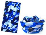 China-Fabrik-Erzeugnis-kundenspezifisches Firmenzeichen gedrucktes blaues Polyester Microfiber Gesichts-Gefäß-Stirnband