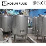 Acero inoxidable Medidas sanitarias de las bebidas de los jarabes de la carbonatación de 1000L depósito mezclador jugo de frutas