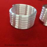 Espiral de color blanco lechoso tubo de cuarzo de semiconductores