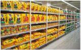 Estante plano del panel trasero de la venta del supermercado de la cara caliente del doble en China