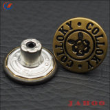 Le Denim boutons personnalisés Boutons en métal argenté antique Jean
