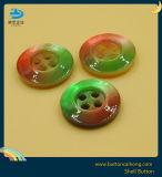 La naturaleza de alta calidad Shell coloridos Botón con 4 orificios
