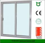 Portello scorrevole di alluminio del materiale da costruzione con vetro Tempered