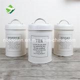 Conjunto galvanizado del envase del estaño del té de la caja del azúcar del hierro