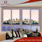 Ménage coulissantes en aluminium double vitrage avec diverses couleurs de profil
