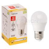 Ahorro de energía de la luz G45 E27 5 vatios bombilla LED