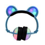 최신 판매 귀여운 주문을 받아서 만들어진 다채로운 빛을내는 판다 귀 헤드폰