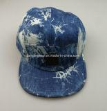 新しいデザインタイの染料のデニム5のパネルのキャンピングカーの帽子