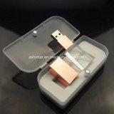Memória Flash USB de cristal mais recente Rose Gold Cartão USB
