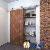 Prix en vigueur à compter de l'intérieur Grange coulissante de porte coulissante de porte plaqué Nickle matériel pour l'appartement