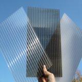 hoja acanalada sólida de la hoja de la depresión del policarbonato de 6m m para el material para techos del tragaluz