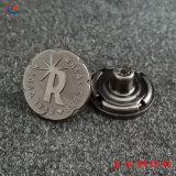 Производитель пользовательские Engrave 3D логотип имя старинной меди вставьте металлический латунный Denim Джинсы заклепку кнопки