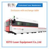 Máquina de estaca do laser da fibra de um cerco de 3000 watts com tabela da troca