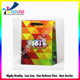 Low Cost Light Blue Ribbon Handle Pantone Color Printed Coated Paper Bag