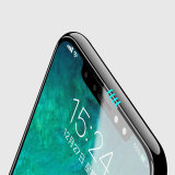 2.5D 3 4 5D La cobertura total no visible completo anti-polvo tapa de vidrio templado de cola para el iPhone X, para el iPhone X a prueba de polvo Protector de pantalla.