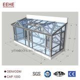 Le verre trempé le profilé en aluminium Solarium Conception simple pour le secteur commercial