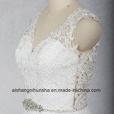 Style Floor-Length plage V l'encolure élégante Robes de mariée