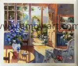 Pittura a olio europea Handmade di paesaggio del giardino su tela di canapa per Decoration&#160 domestico;