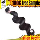 人間の毛髪の拡張Remyのマレーシアの毛