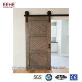 Portello scorrevole di disegni semplici del granaio moderno di legno solido