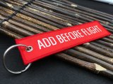 Keychain tecido tela com o Tag da bagagem do bordado