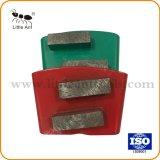 Deux barres de métal de plancher de béton segmenté Diamond meulage des chaussures