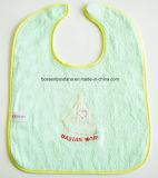 중국 공장 OEM 생성 주문 자수 면 부드럽게 밝은 초록색 니트 아기 지류 수도꼭지
