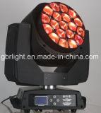 K10 alto indicatore luminoso capo mobile della lavata dello zoom LED di luminosità dell'Ape-Occhio 19pcsx 15W RGBW 4in1