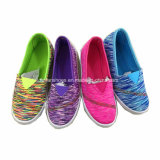 Hotsaleの子供のスニーカーの履物のスリップオンの偶然のズック靴(ZL1216-6)