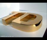 Het decoratieve Gouden Embleem van het Roestvrij staal van het Titanium Spiegel Vervaardigde