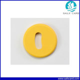 24mmの直径RFIDのPasstiveチップが付いている洗浄の洗濯の札