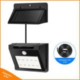 Indicatore luminoso dell'interno/esterno della lampada solare dei 10 LED di movimento del sensore di obbligazione della parete