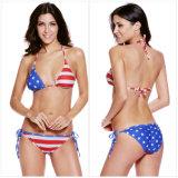 Reizvoller Badeanzug der Frauen, der Strappy Bandeau Tankini Halter drücken Badebekleidungs-Bikini-Set hoch