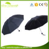 Дешевые цены вручную открыть 3 сложенных Custom Print зонтик