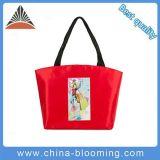 高品質旅行赤い女性のハンドバッグのナイロン肩のショッピングトートバック