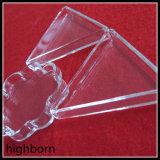 De forma personalizada contenedor de vidrio de cuarzo transparente