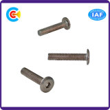 Aço de carbono de DIN/ANSI/BS/JIS/parafusos principais lisos internos de aço galvanizados Stainless-Steel mecânicos do hexágono/mobília
