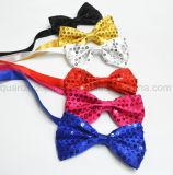 OEM Hot Sale partie clignoter Sequin Neck Tie cravate Bow Tie